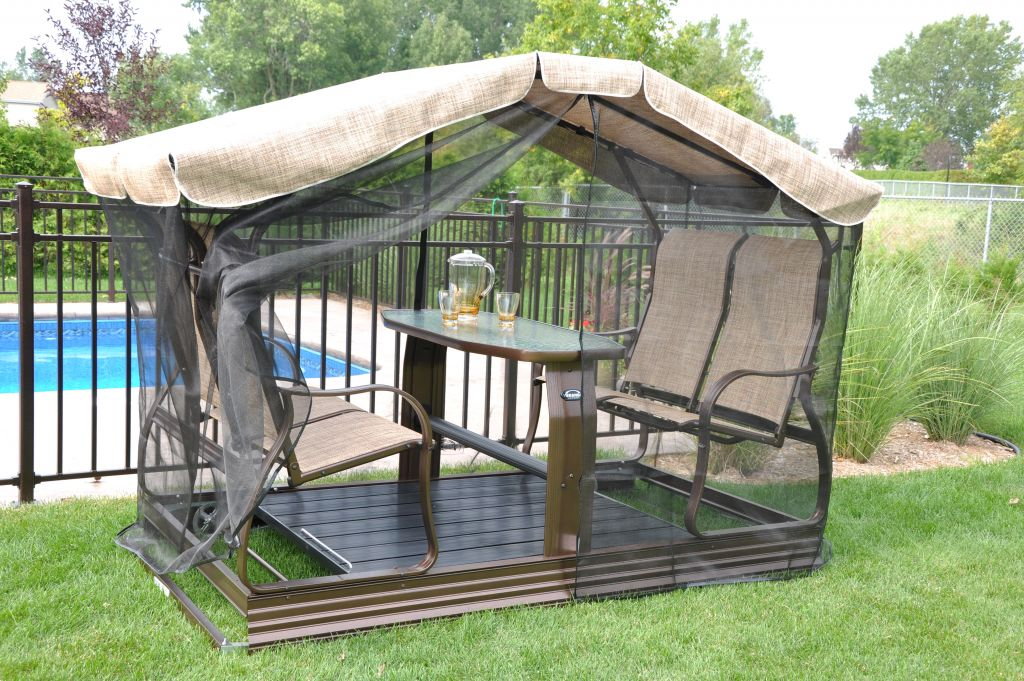 V Randa Jardin Garden Furniture Screen Shelter Side Only For Swing On Wheels